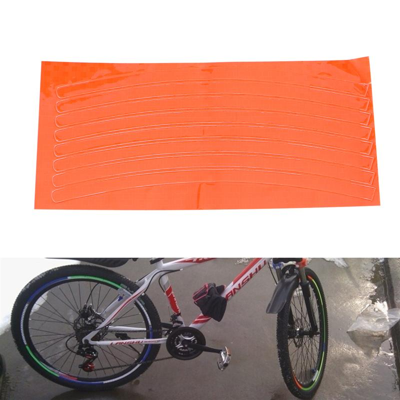 BIKE RIM WHEEL STRIPES ORANGE STRISCIA ADESIVA ARANCIONE 6 MT PER CERCHI MOTO