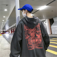 DEKUSI hoodies Autumn Clothing New Pattern Printing Even Hat Round Neck streetwear hip hop Pullover Casual Tops Sweatshirt