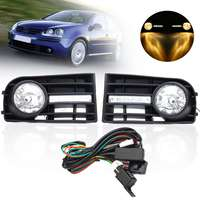 2pcs White Lens Front Bumper Fog Light Lamp Grilles w/ Relay & Wiring Harness For VW Golf 5 2006 2007 2008 2009