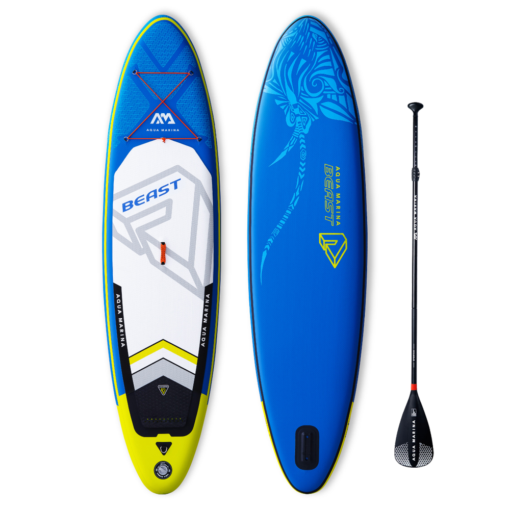 Aqua marina Beast inflable 10'6 stand up paddle board ISUP inflable sup paddle tabla de surf