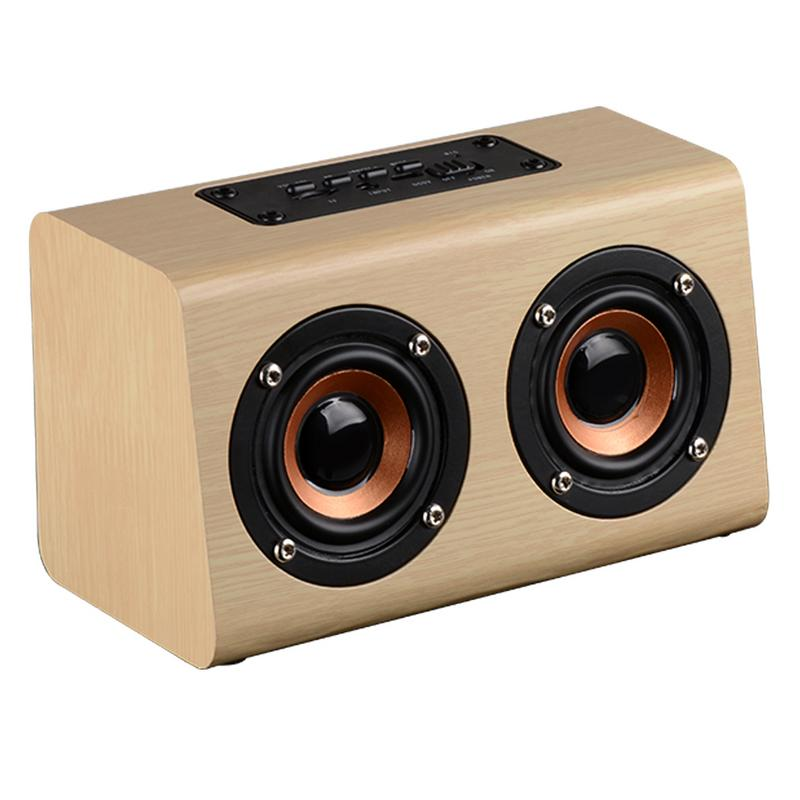 Portable Player Retro Wireless Bluetooth Speakers Handcrafted Wooden Stereo Hd Sounds Surround Devices For Travel Home Outdoor-in Portable Speakers from Consumer Electronics