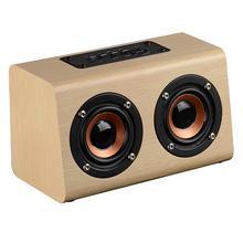 Przenośny odtwarzacz Retro bezprzewodowe głośniki Bluetooth ręcznie wykonane drewniane Stereo Hd dźwięki Surround urządzeń do podróży do domu na zewnątrz