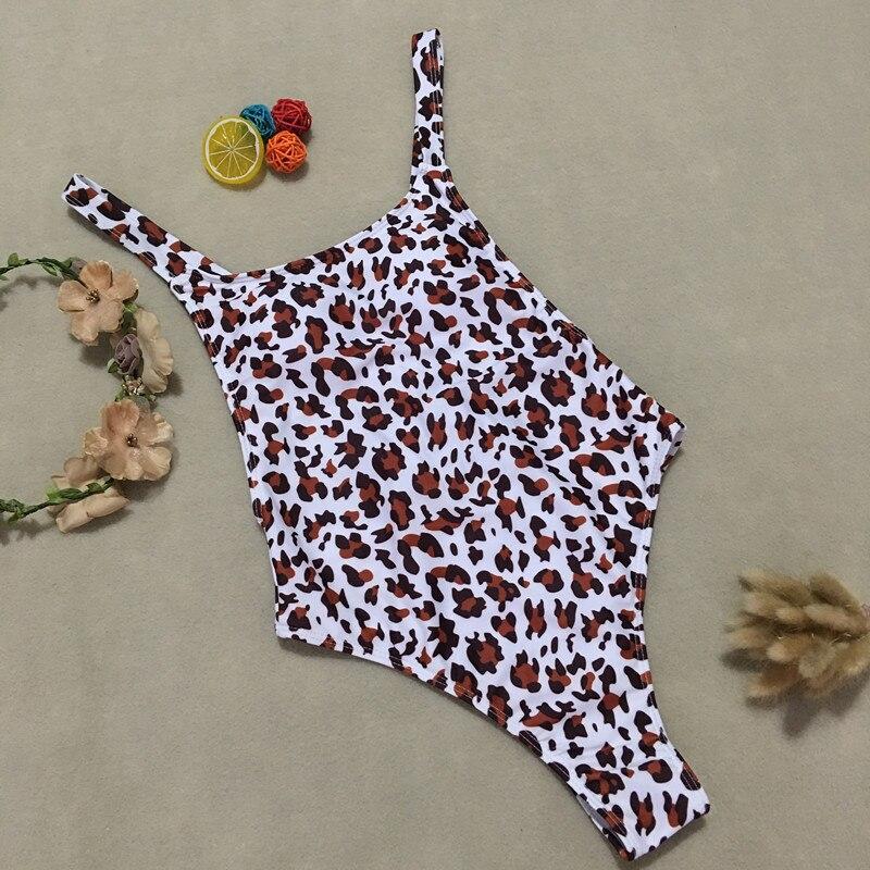Leopard print vintage women bikinis Hot sexy female Push up padded swimwear bodysuits summer monokinis maillot de bain Sportwear in Body Suits from Sports Entertainment