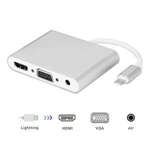 Image 1 - Adaptador de iluminación a HDMI VGA AV Adaptador 4 en 1 Plug and Play Digtal AV para iPhone X / 8 / 8Plus/7/7Plus/6/6s/6s Plus/5/5s iPad