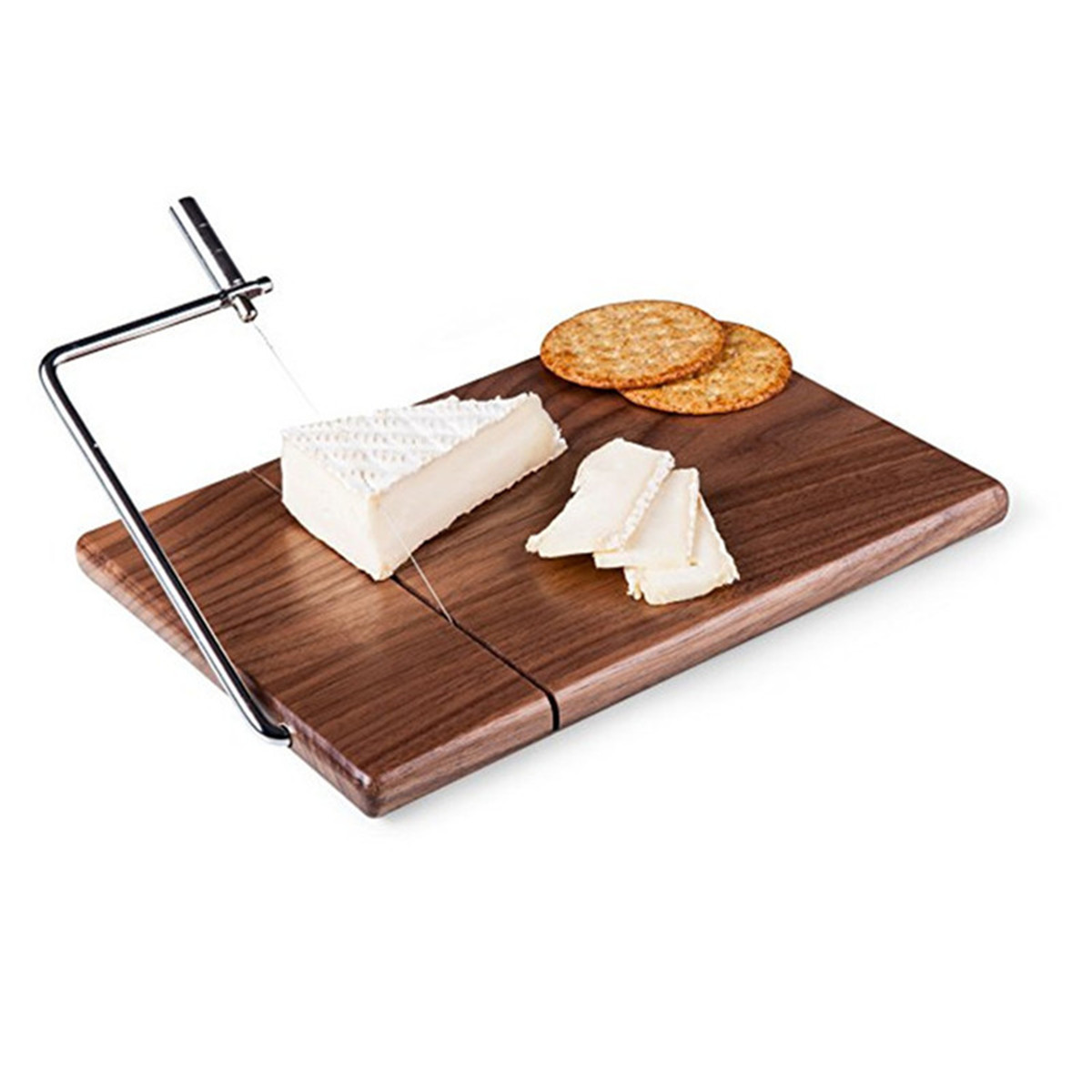 25*17*2cm Walnut wood Cheese Board Wire Cutting Cheese Butter Slice Logs Cheese Cutter Table Kitchen Cooking Baking Knife Tray