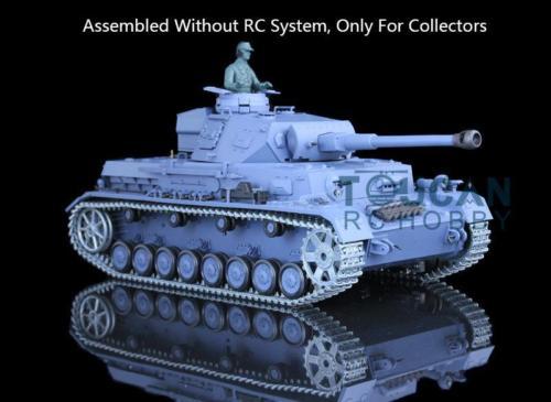 Henglong 1 16 German IV F2 Model Static Metal Tank 3859 Gearbox W O Electronic