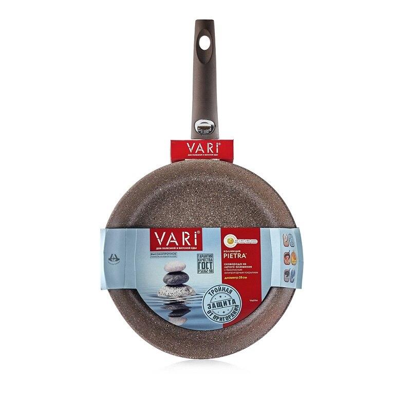 Сковорода VARI, PIETRA, 24 см, теплый гранит, со съемной ручкой цена