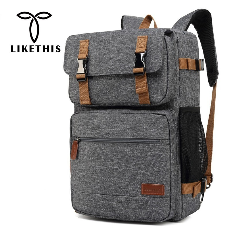 LIKETHIS Laptop Backpack Business Bag For Male USB Quickly Recharge Two Mode Backpacks For Men Travel