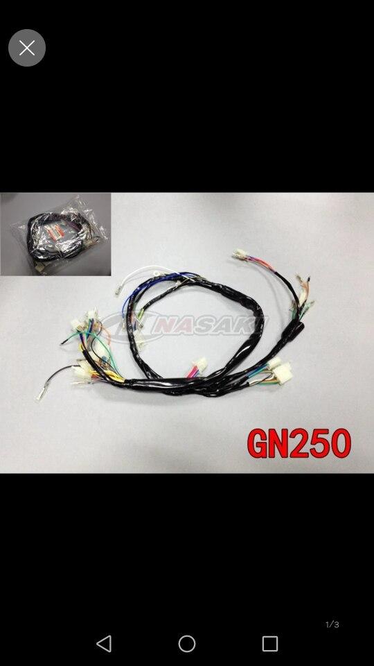 Moto Entier Harnais Complet Électrique Câblage Câble Ensembles Pour Suzuki GN250 GN 250 Pièces De Rechange