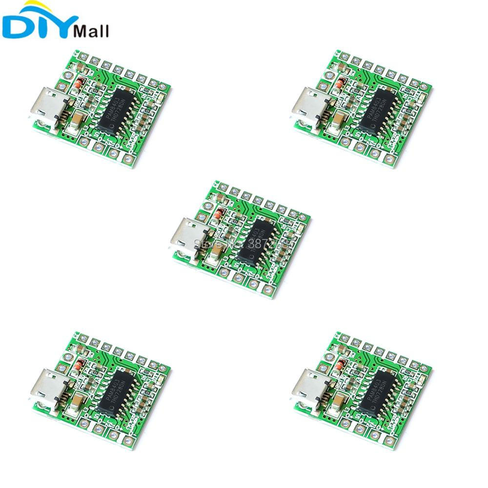 5pcs PAM8403 Mini 2 Channel Stereo 3W Class D Audio Power Amplifier Module Board