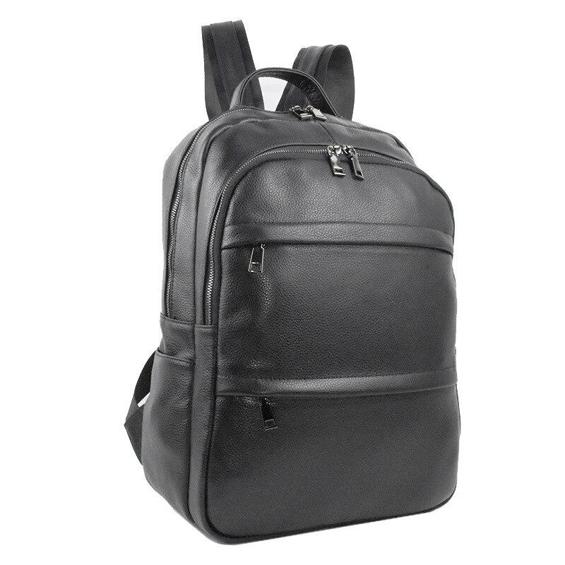 Sacs à dos d'ordinateur portable pour hommes sac à dos en cuir 15.6 pouces sac à dos pour ordinateur portable sacs pour hommes étanche sac à dos multifonction de voyage d'affaires
