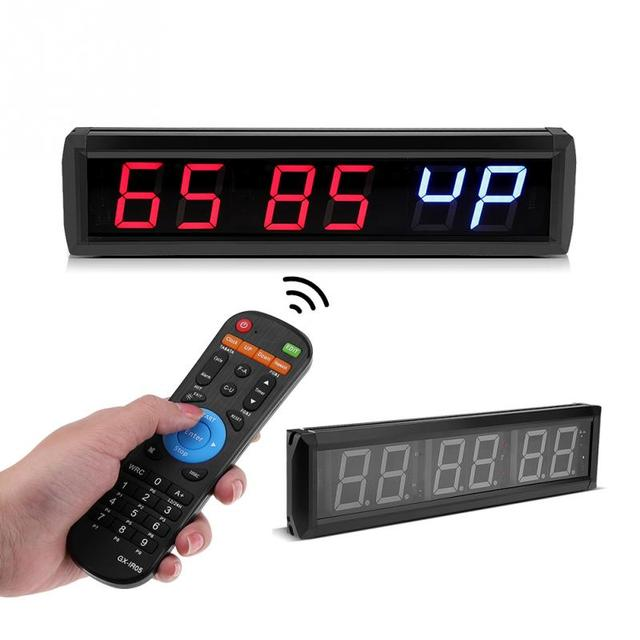 Btbsign led programmable interval timer wall clock with remote big