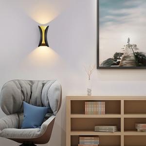 Image 2 - Luminária moderna de parede ip65 para áreas externas, para áreas externas, 12w e 24w, led, para parede, sala, aisle, parque, paisagem, jardim luz clara