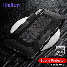 iHaitun Luxury Shock Proof Armor Case For iPhone XS MAX XR X Cases Military Protector Back Cover For iPhone 7 8 Plus Phone Cases(China)
