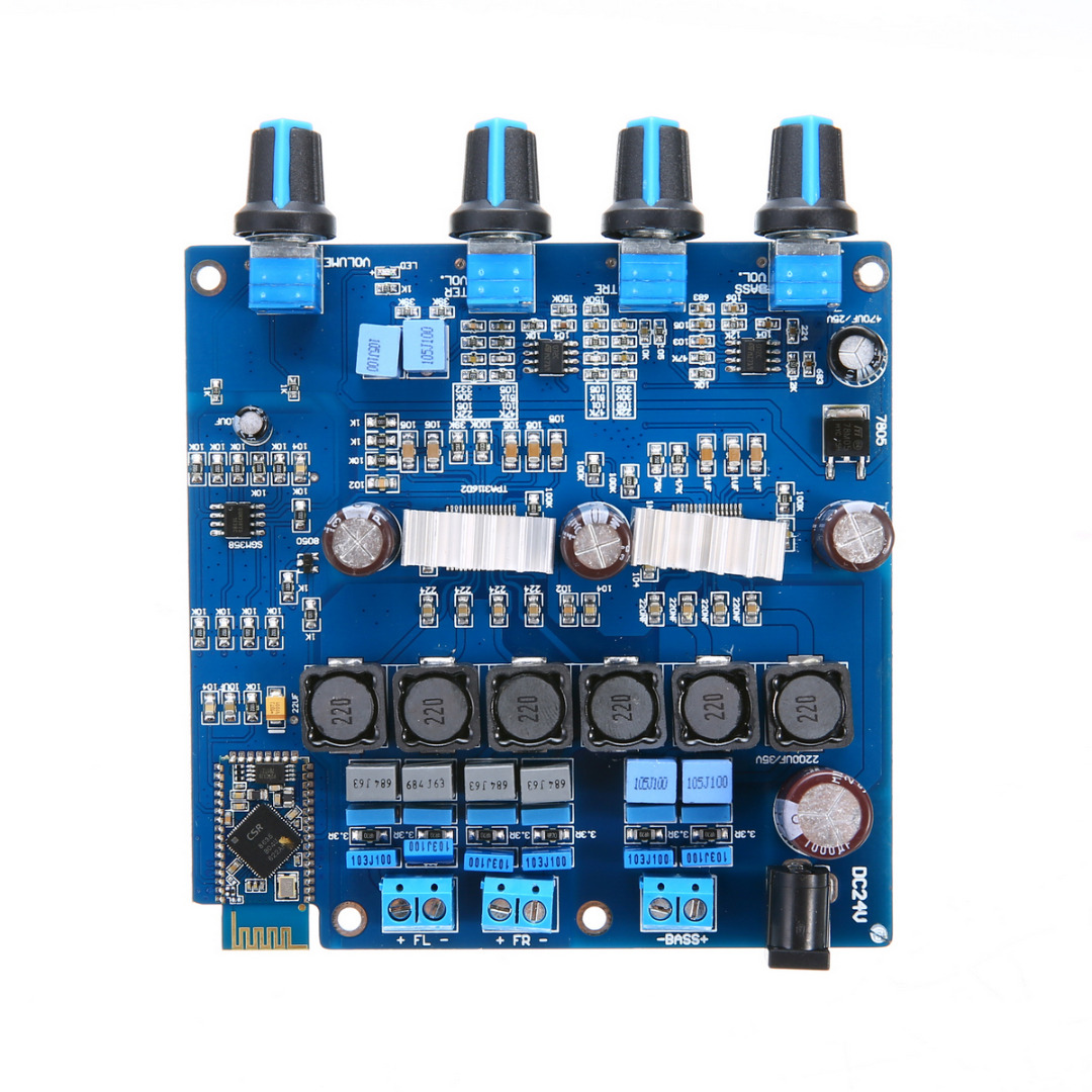 цена на TPA3116 Bluetooth 2.1 Amplifiers High Qulaity 20Hz To 20KHz Class D Digital Amplifier Board 100W+2*50W Mayitr
