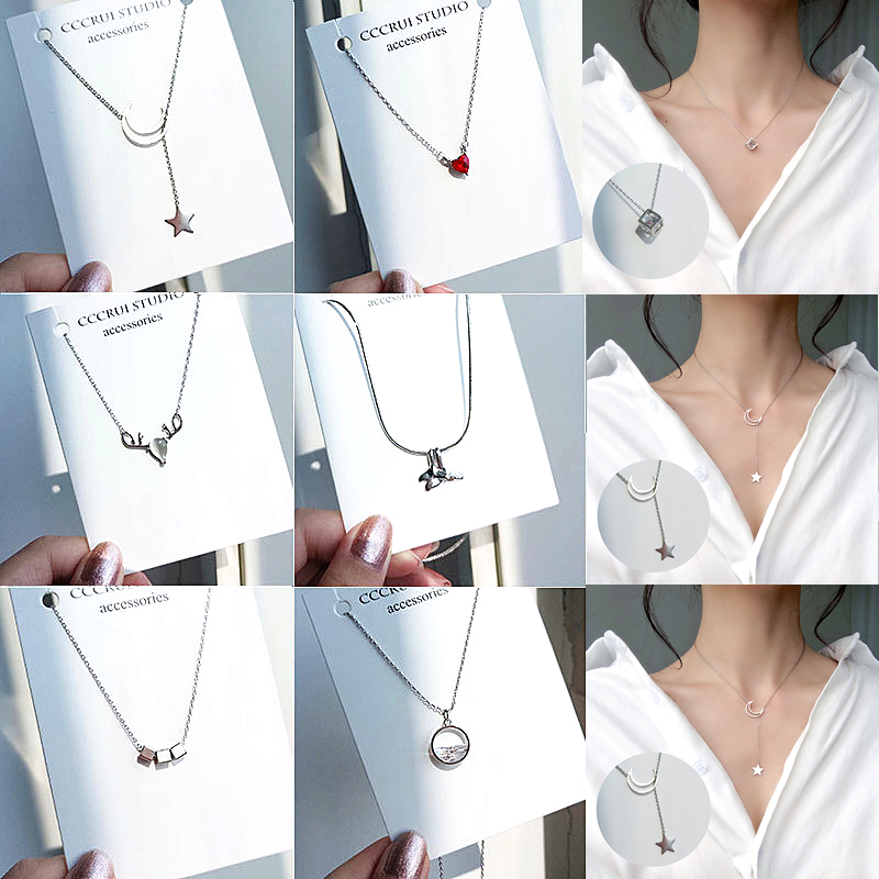 US $0.75  Fashion Tiny Dainty Necklaces for Women Jewelry Multilayer Moon Star Pendants Silver Color Choker Cross Ethnic Girlfriend Gift-in Choker Necklaces from Jewelry & Accessories on Aliexpress.com   Alibaba Group