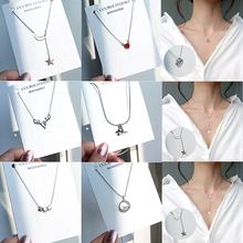 US $0.75 |Fashion Tiny Dainty Necklaces for Women Jewelry Multilayer Moon Star Pendants Silver Color Choker Cross Ethnic Girlfriend Gift-in Choker Necklaces from Jewelry & Accessories on Aliexpress.com | Alibaba Group