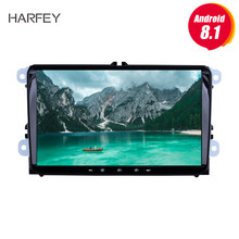 Harfey Android 8.1 2Din For VW/Volkswagen/Golf/Polo/Tiguan/Passat/b7/b6/leon/Skoda/Octavia car Radio GPS Car Multimedia player(China)