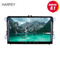 Harfey Android 8.1 2Din pour VW/Volkswagen/Golf/Polo/Tiguan/Passat/b7/b6/leon/Skoda/Octavia autoradio GPS lecteur multimédia de voiture