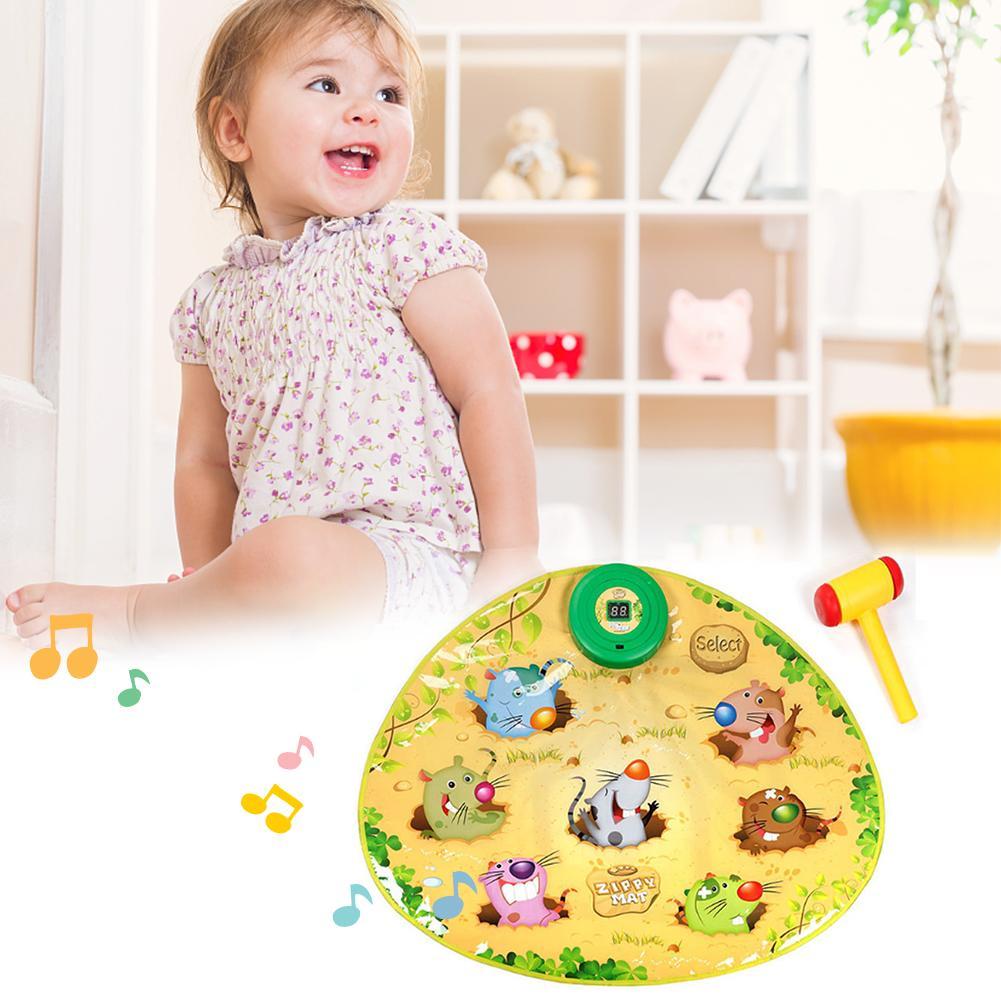 Jouet pour enfants Whac un jeu de taupe tapis de danse Puzzle musique Pad enfants lumières jouets interactif amusant Hamster