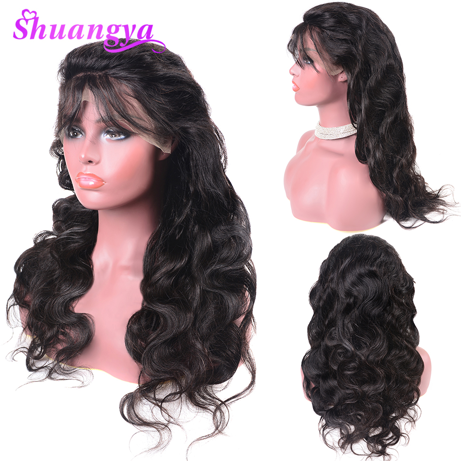 Peruvian Body Wave Wig Remy Lace Front Human Hair Wigs For Women Plucked Bleached Natural Hairline