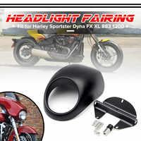 Moto phare masque phare carénage capot avant fourche monture pour Harley Sportster Dyna FX XL 883 1200 moteur accessoires