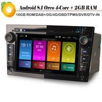 Quad Core Android 8.1 Autoradio Sat Navi DAB+ WiFi 4G Radio DVD BT Car GPS Navigation Player for Opel Corsa Astra TwinTop Zafira