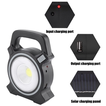 30W LED Solar Power Work Spot Lamp Rechargeable Port Camping Tent Light Outdoor  Portable Haning Hiking Lantern Emergency Light super bright square portable solar lantern 4 modes rechargeable emergency led outdoor camping light black white