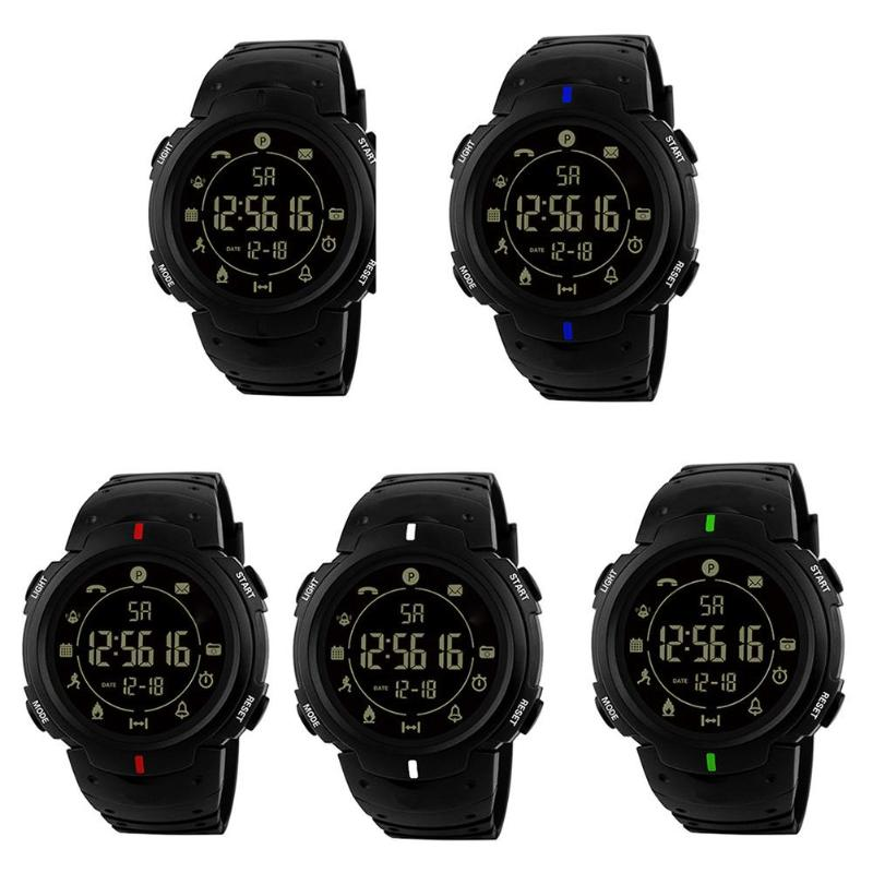 Unisex Women Men Waterproof Bluetooth Sports Pedometer Wristwatches Unisex Resin Strap Smart Electronic Watches High Quality