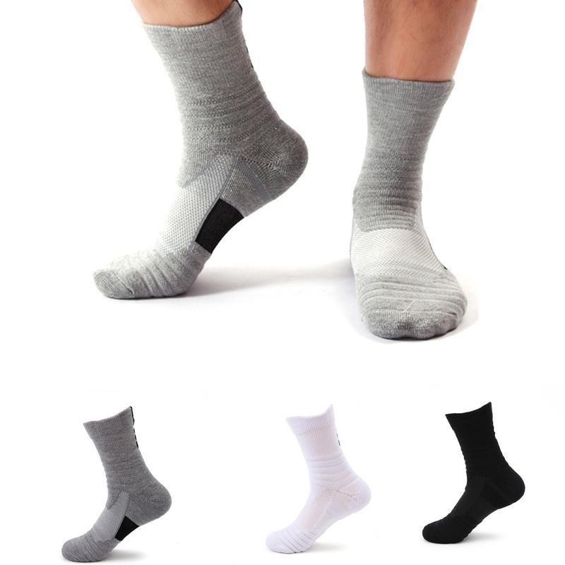 Outdoor Sport Men Knee High Sports Socks Discontinuous Pile Loop Sweat Absorbent NonSlip Basketball Socks Badminton Running