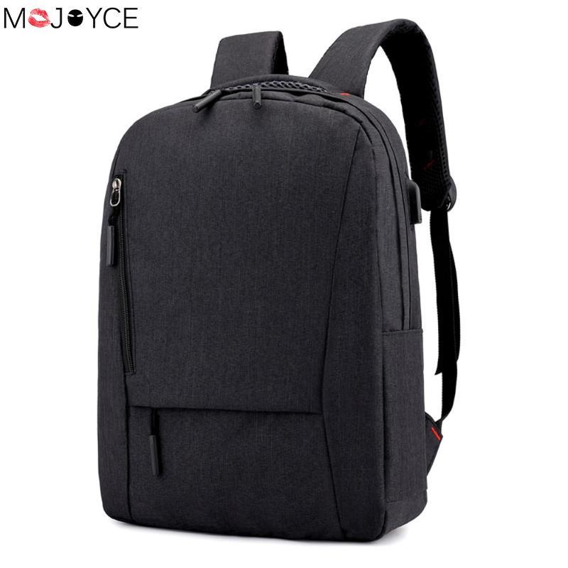 9b3cc144f4cf2 Iş dizüstü Sırt Çantası Erkekler için Rahat USB Şarj Seyahat omuz sırt  çantası Kolej Okul Çantaları