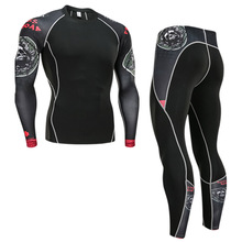 Sportswear Thermal-Underwear-Set Jogging-Suit Compression-Tights Base-Layer Gym Training