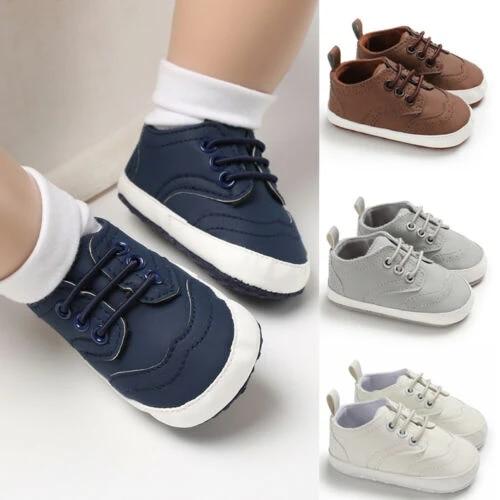 Infant Toddler Baby Boy Girl Soft Sole Crib Shoes Sneaker Newborn Anti-Slip
