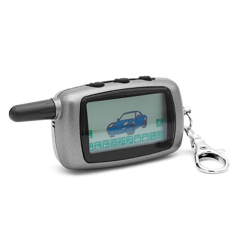 <font><b>A9</b></font> 2-way LCD Remote Control Key Fob Chain For Two Way Car Alarm System <font><b>Twage</b></font> <font><b>Starline</b></font> <font><b>A9</b></font> Keychain image