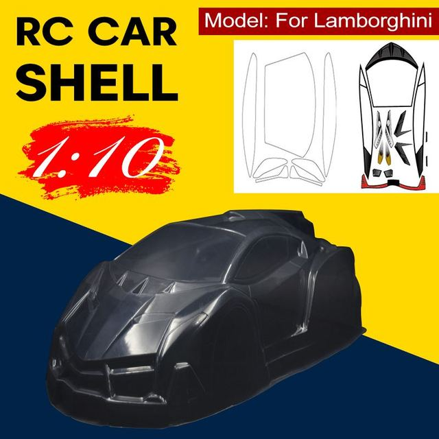 1/10 1:10 RC PVC Car Body Shell with Sticker 260mm Wheel Base Car Shell Transparent For Lamborghini