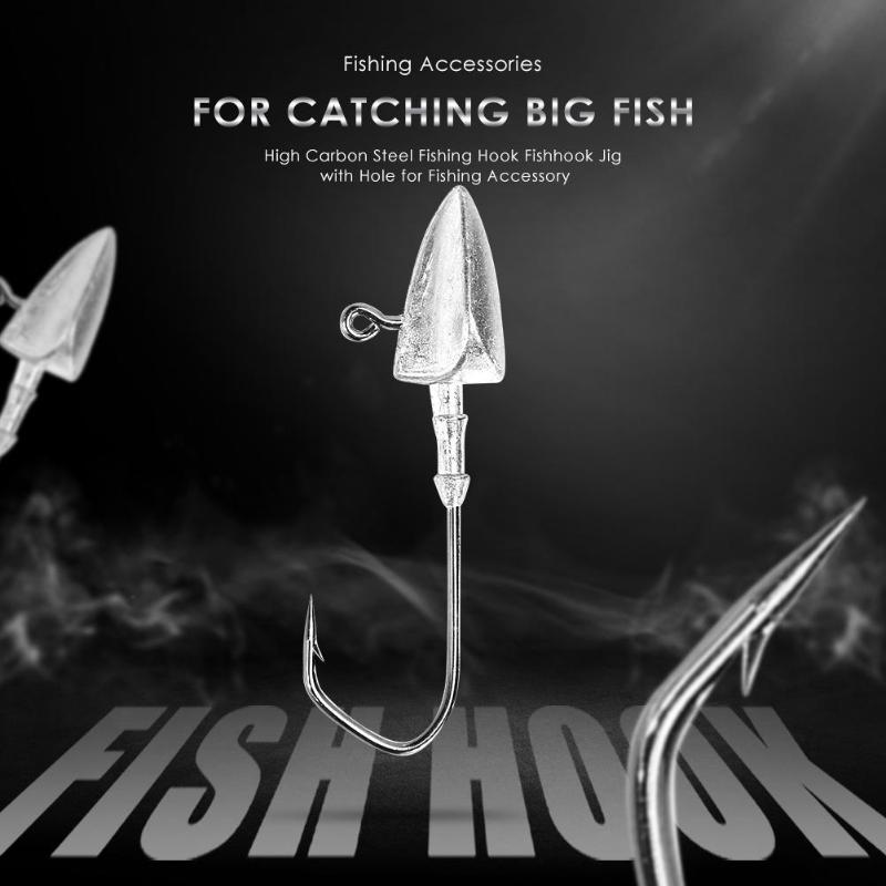 1pcs/5pcs Silver Crank Lead Jig Head Hook 5g 10g 21g Soft Lures Jigging Fishing Lure Hooks Worm Fishing Tackle Accessories Fishing Sports & Entertainment