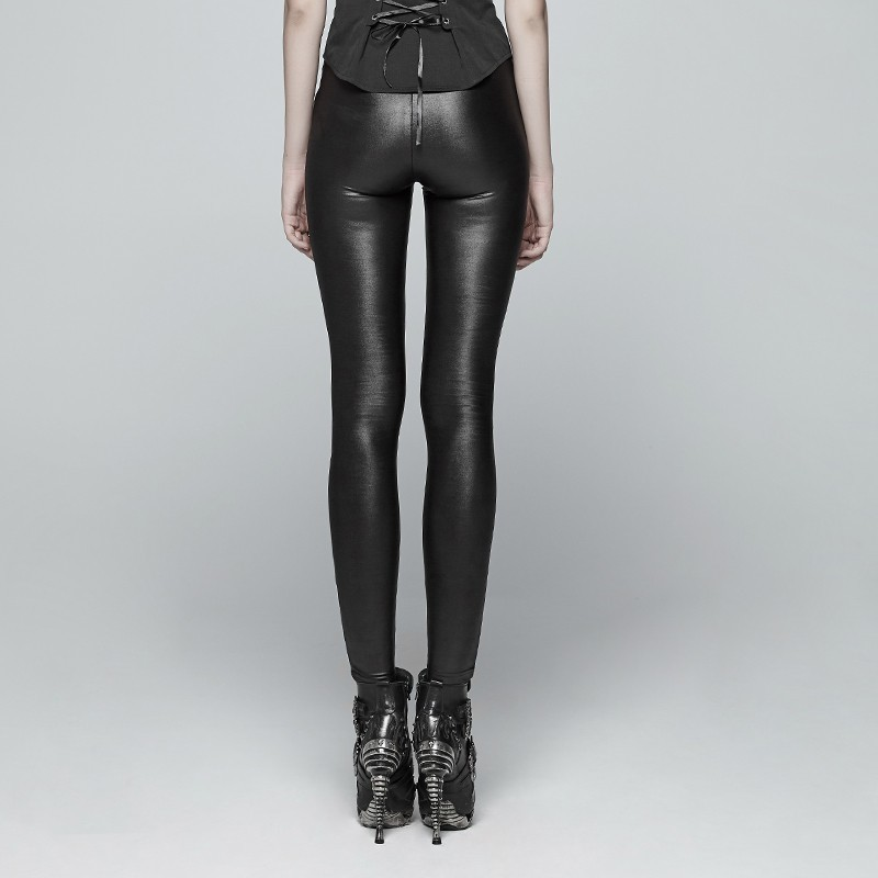 PU cuir couture Leggings hiver Plus velours Leggings femmes taille haute noir Leggins chaud Skinny Long pantalon Legging C3931 - 2