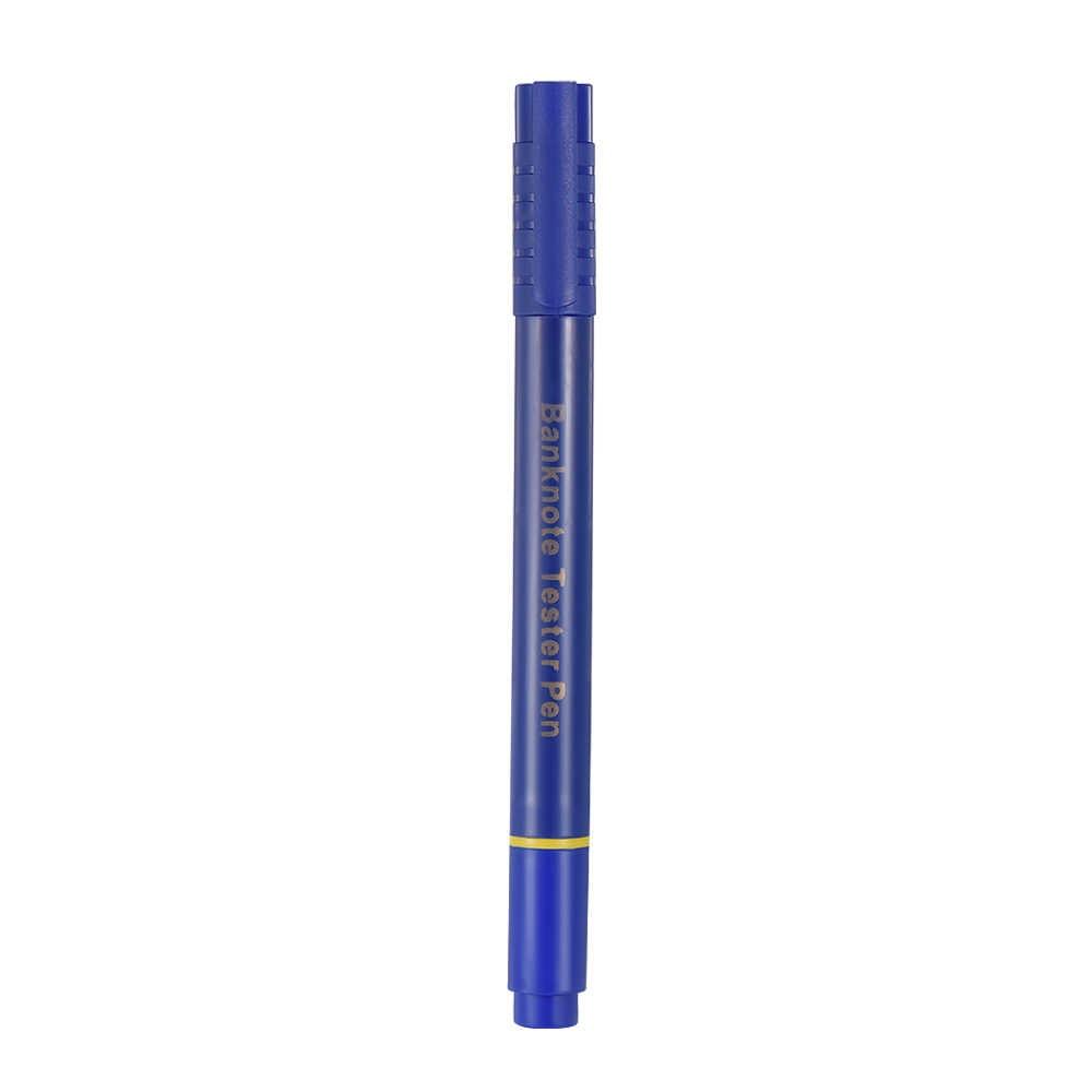 Portable Mini Pena Uang Kertas Tester Detektor Uang Palsu Pena Mata Uang Arus Checker Palsu Dolar Marker dengan Bola Titik Pena
