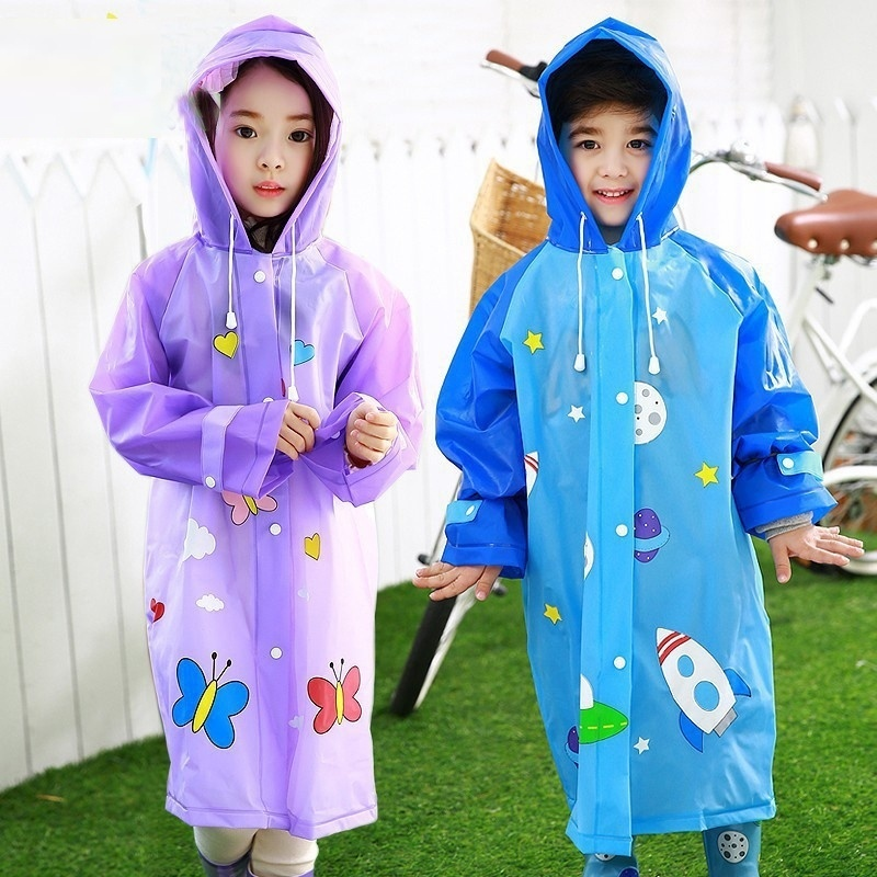 Children Raincoat Waterproof Rain Gear Boys And Girls Rain Poncho Children Cartoon Rainwear