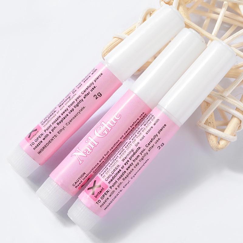 High Quality Professional 2g Mini Beauty Nail Glue Nail Adhesive Glue Fast-dry For UV Acrylic Manicure Nail Art Decoration Tools