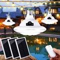 1/2 шт Солнечная энергия светодиодный фонарь с солнечной панелью и пультом дистанционного управления 22LED Палатка Лампа для кемпинга для пеше...