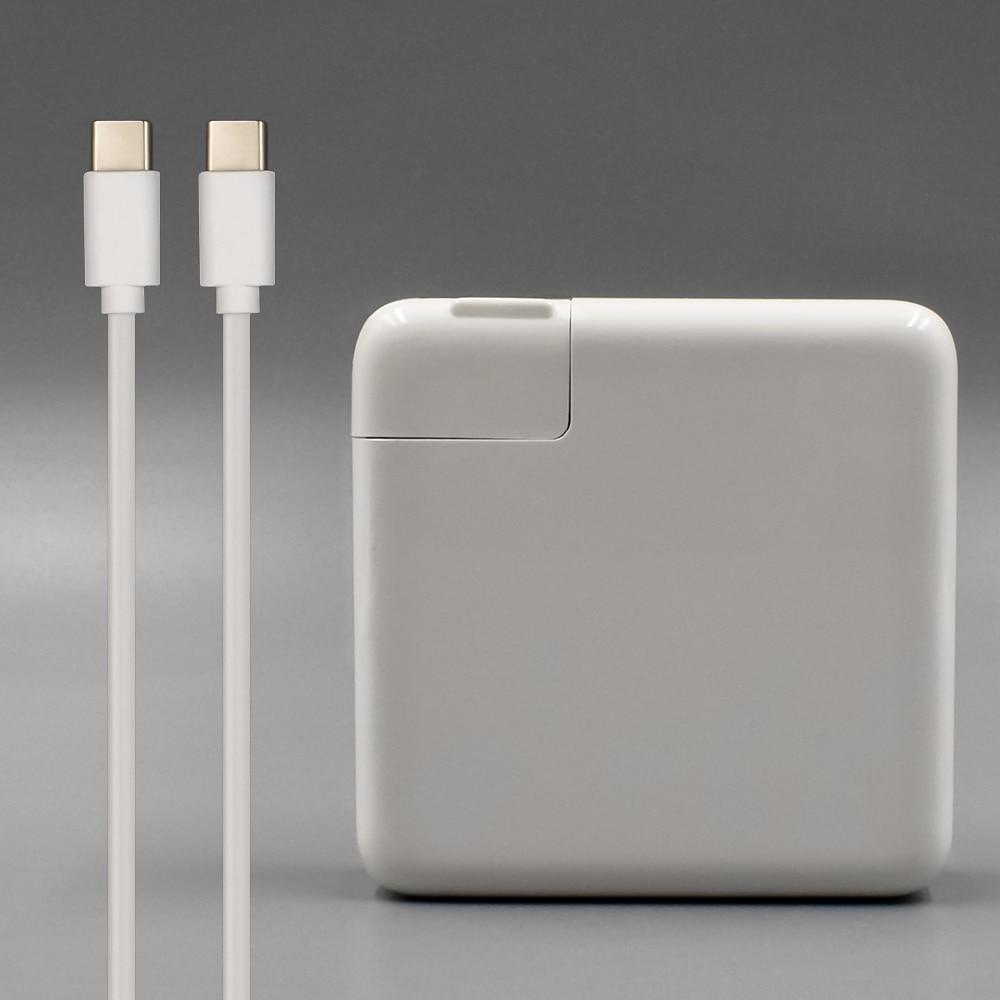 87 w USB-C Puissance Adaptateur Type-C Chargeur Avec 1 m USB-C De Charge Câble Pour Dernière Apple Macbook pro 15 pouces A1706 A1707 A1708 A1719