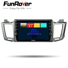 Funrover 8 ядер android 8,1 игрок автомобиля dvd gps для Toyota RAV4 2013-2016 2 din автомагнитола Аудио Видео Стерео Плеер