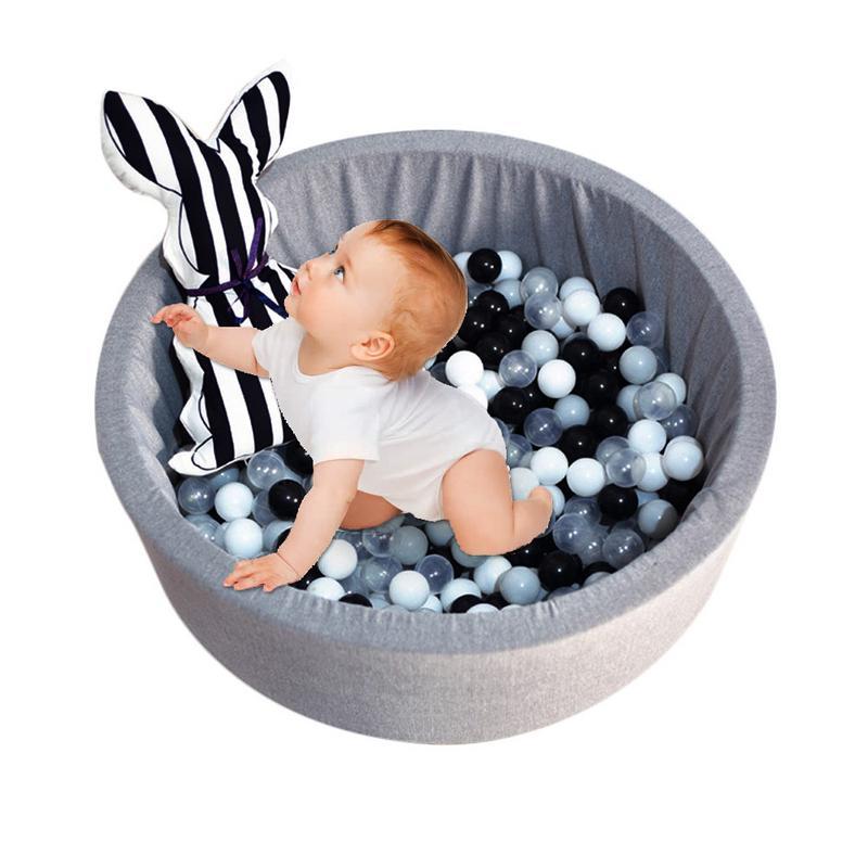 Bébé sec piscine escrime tente gris rose bleu boule ronde piscine Pit parc sans balle jeu jouets pour enfants cadeau d'anniversaire