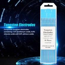 10 шт. 2,0*150 мм Tig сварочные композитные вольфрамовые электроды(WES фиолетовый) 10-Pack Tig сварочный электрод