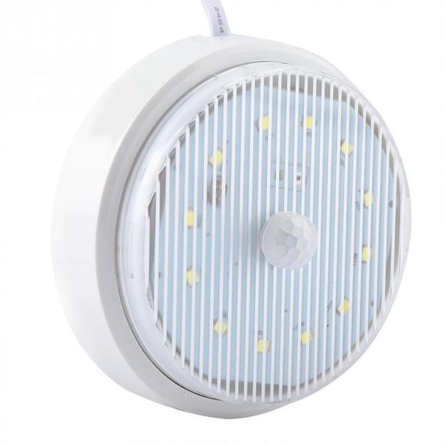 220V 3W Motion Sensor LED Night Light Human Body Reduction Cabinet Night Lamp for Home Hotel Closet wireless Cabinet  Lighting