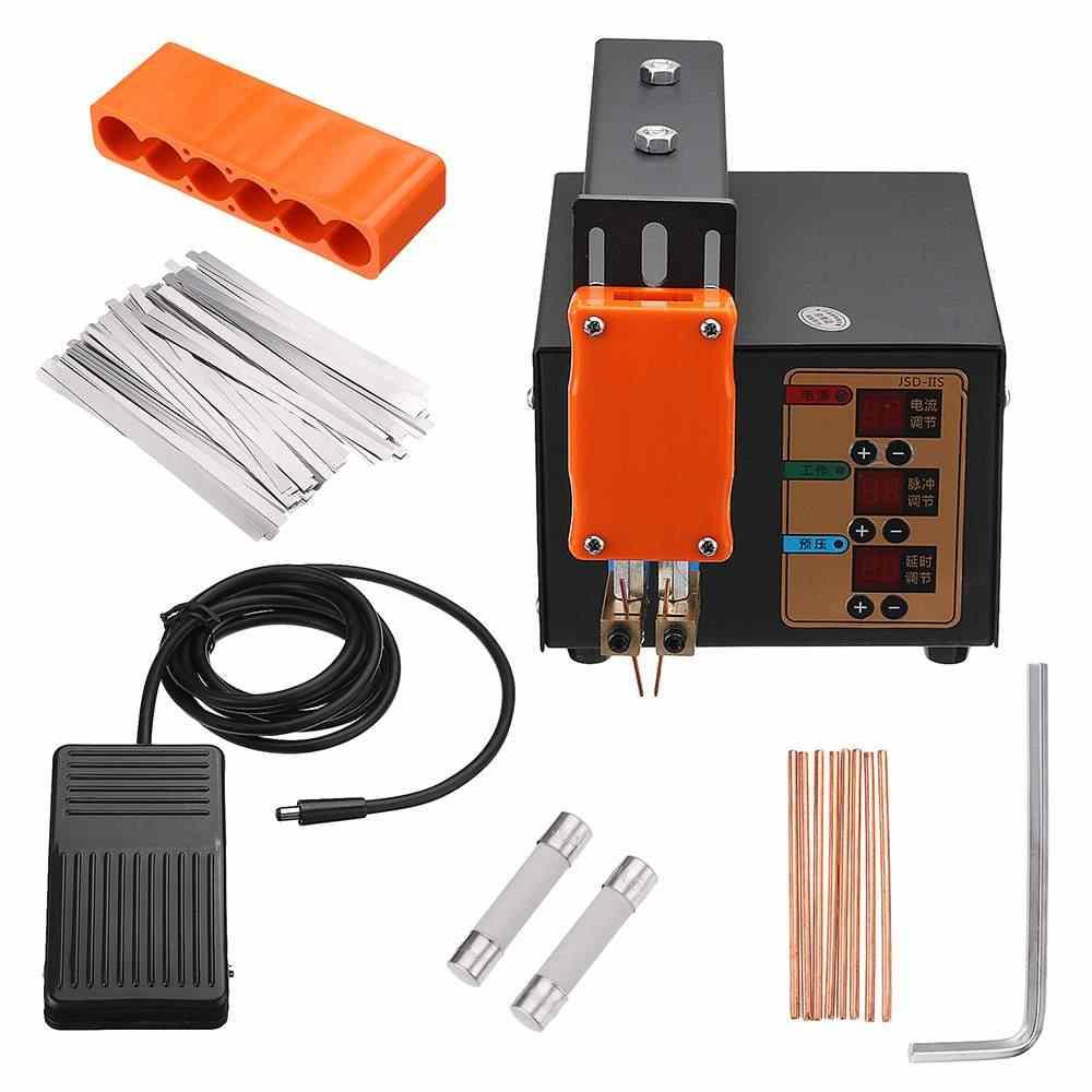 220 В 3 кВт аккумуляторная машина для точечной сварки с расширенным рычагом сварочный аппарат с пульсом и токовым дисплеем высокого качества