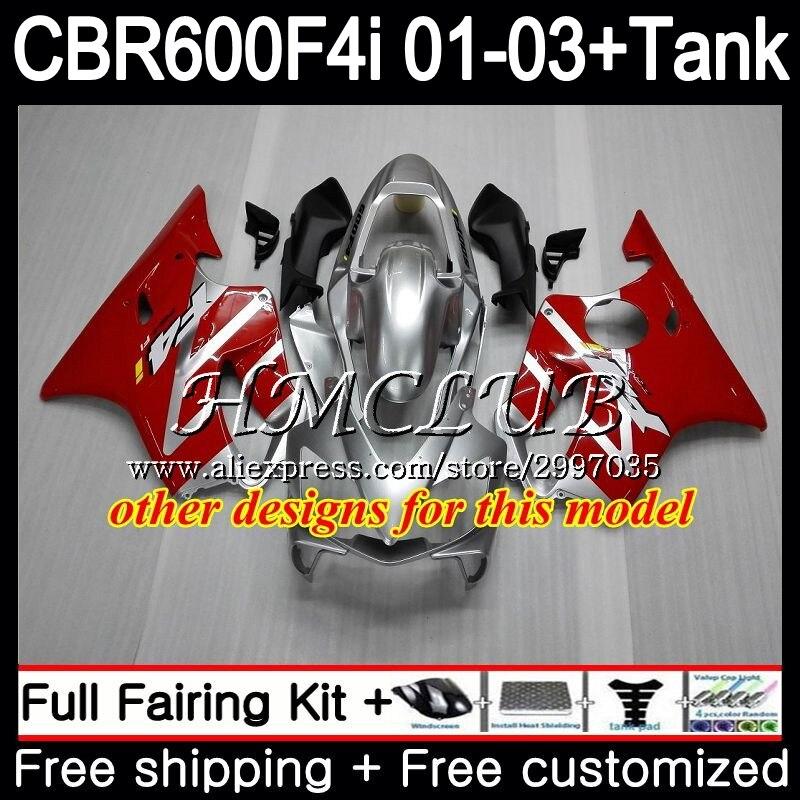 + Tanque Para HONDA Estoque red hot CBR 600 F4i CBR600FS CBR600F4i 2001 2002 2003 77HC. 1 600F4i 600 FS CBR CBR600 F4i 01 02 03 Carenagem - 5