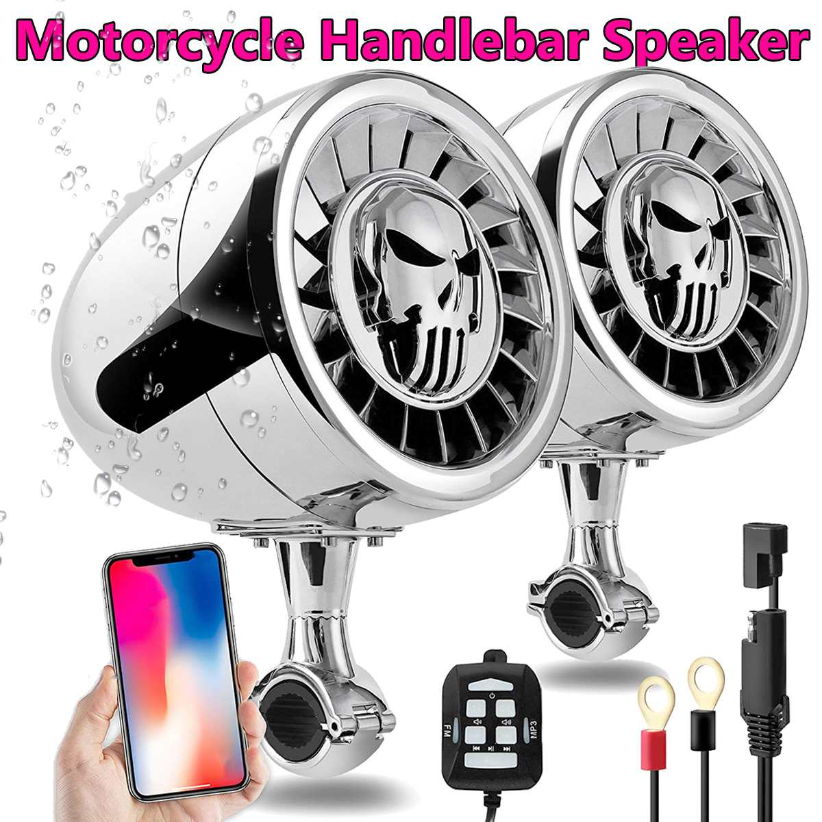 600W 5 Inch MP3 Music Audio Player Bluetooth Speakers For Motorcycle Waterproof Portable Stereo Motos Audio Amp System