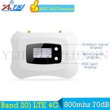 ATNJ 4G LTE (800 FDD) Европа мобильный телефон усилитель сигнала Усилитель 70dB 4G LTE 800 Band 20 мобильный телефон сотовый усилитель сигнала
